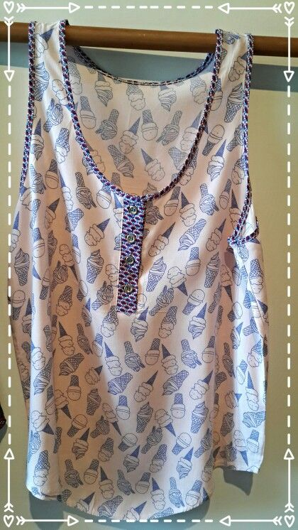 Musculosa ice cream con guarda