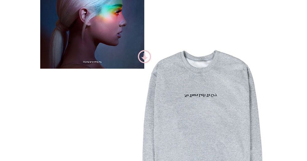 No Tears Left To Cry Grey Crewneck Digital Single Ariana