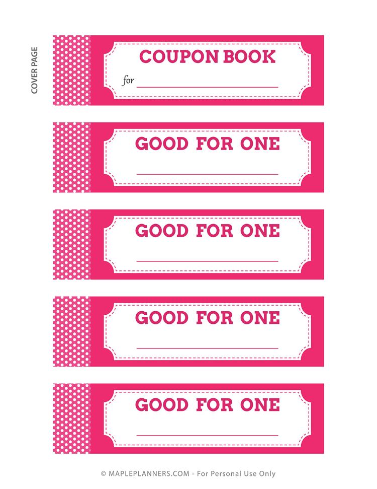 Coupon Book DIY Download Free Printables in 2020