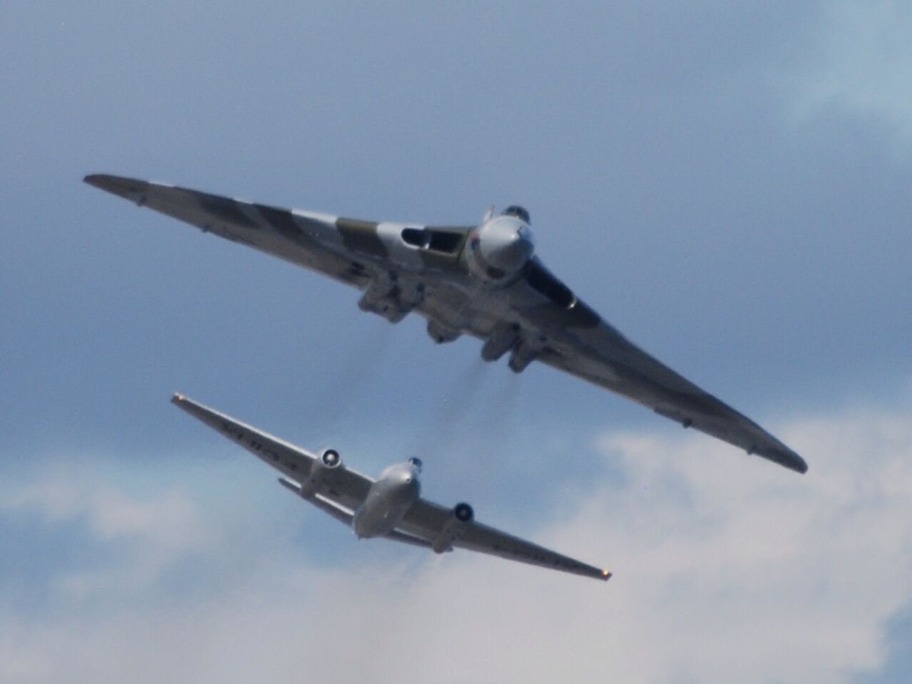 Avro Vulcan Bomber Xh558 At Newcastle With British Electric