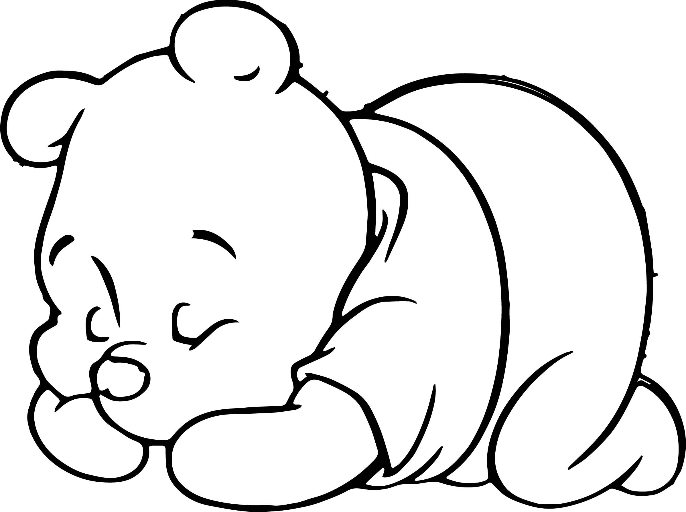 cool Sleeping Baby Pooh Coloring Page | Coloring pages ...