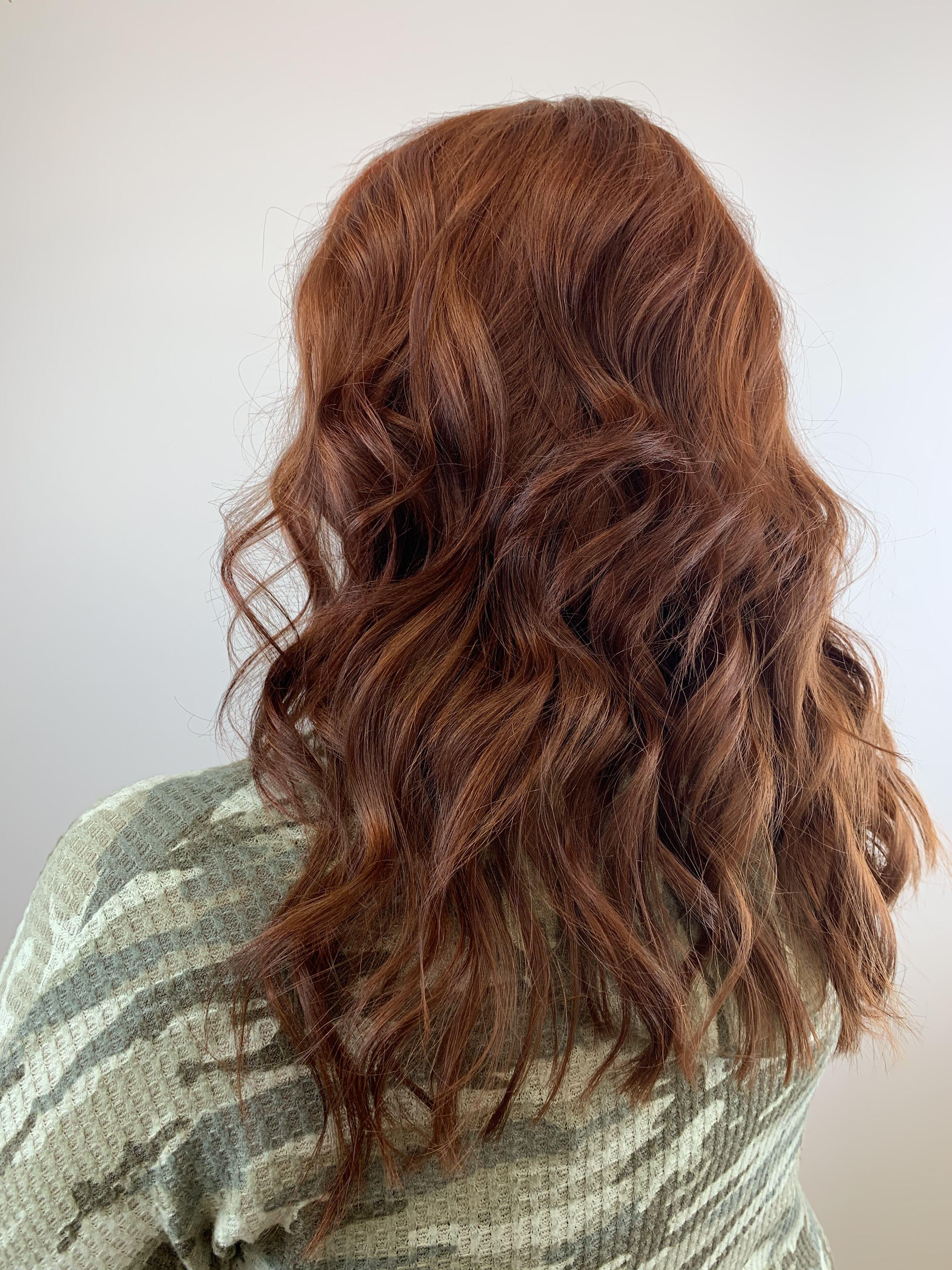 Rich Red Hair Hair Extensions Near Me Organic Hair Salon Organic Hair