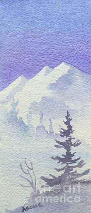 Steep Mountain Carte Noel En 2019 Aquarelle Facile Paysage