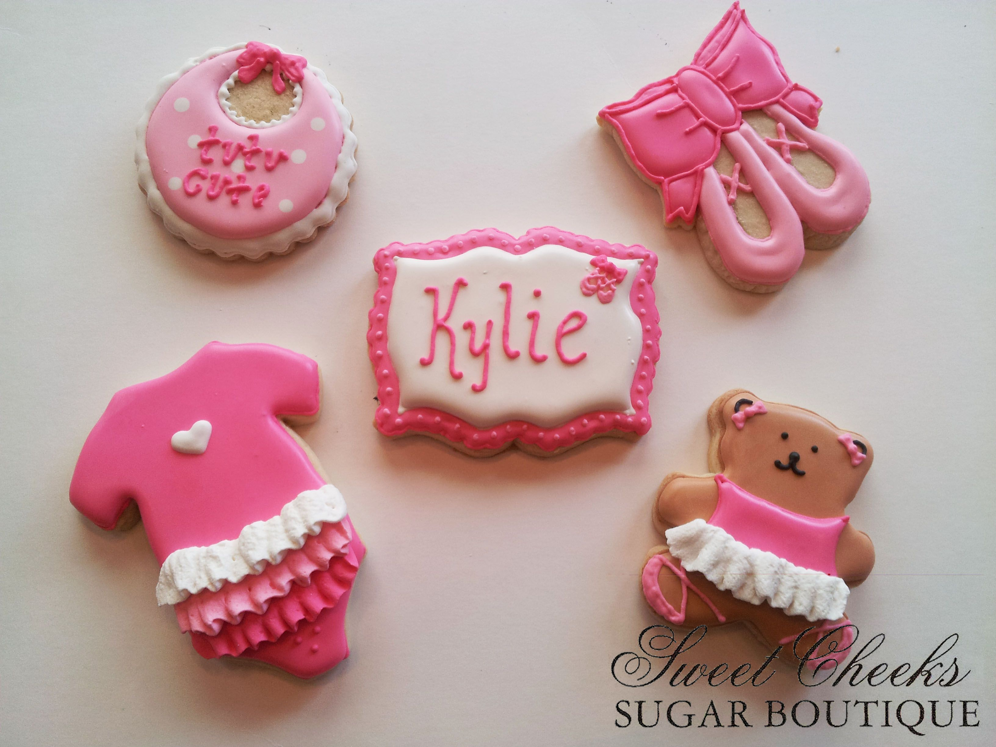 Ballet themed cookies for Kylie s baby shower