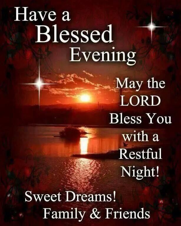 The Moon And Star Have A Blessed Evening May The Lord Bless You