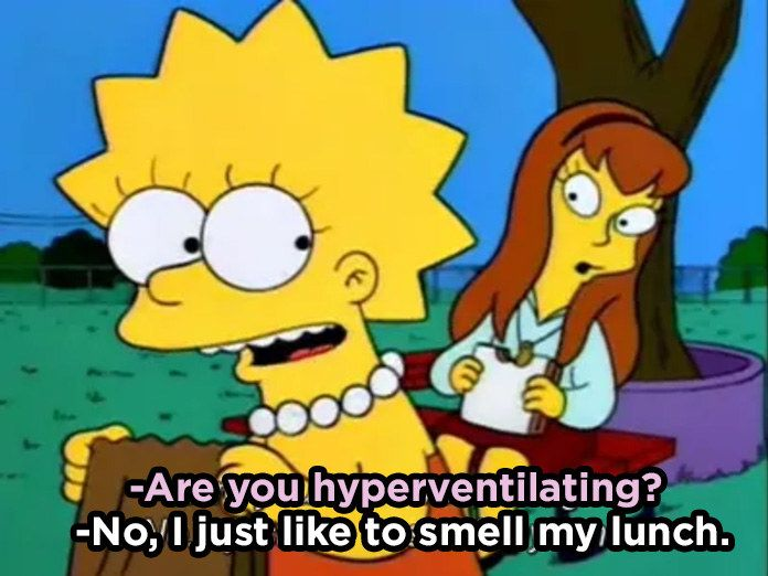 When She Was Feelin Her Lunch Simpsons Quotes The Simpsons The Simpsons Movie