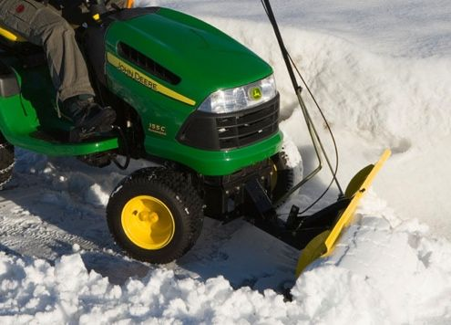 How to Turn Your Lawn Tractor into a Snow Plow or Blower