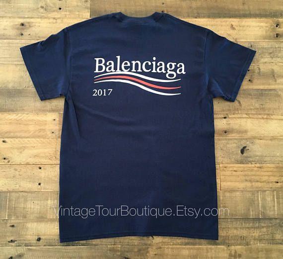 Balenciaga T Shirt Navy Logo 2017 Campaign Homme Clothing Shirt Etsymktgtool Balenciagat Shirt Balenciagatee O Balenciaga T Shirt Balenciaga Shirt Shirts
