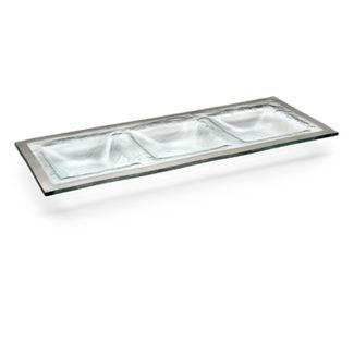 Annieglass Roman Antique 3 Section Tray Products Tray