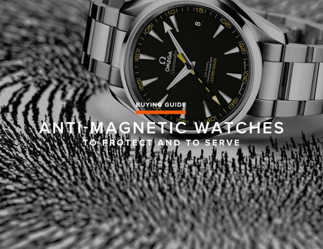 GEAR PATROL: Six Great Anti-Magnetic Watches---Despite being powered by borderline ancient spring technology, the mechanical watch ranks as one of man's most complex machines.  The small bridges, gears, and springs are susceptible to being thrown out of whack by outside elements. While sudden shock and changes in temperature are two of the more obvious culprits, magnetic fields are a bit more subtle...
