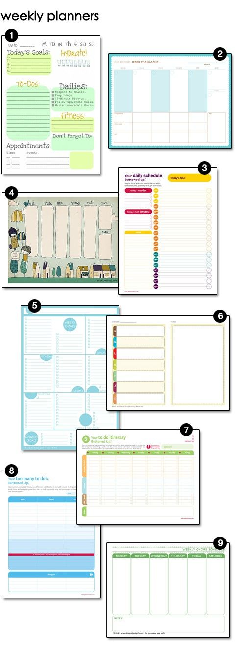 Free GoalSetting And Household Management Printables