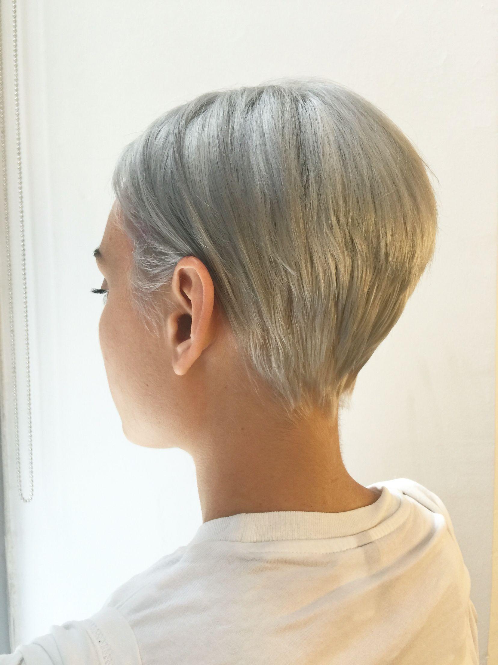 hair fine short thin hairstyles pixie bob blonde haircuts process uploaded user summer silver cuts
