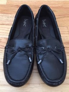 c4060633bbd BOC Born Carolann SZ 7 Black Vegan Leather Loafer Driving Mocassin Slip On  Flats