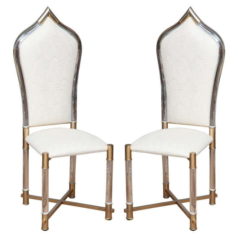 Moroccan Themed Accent Chair: Moroccan Inspired Italian Lucite Dining Chairs By Pavia