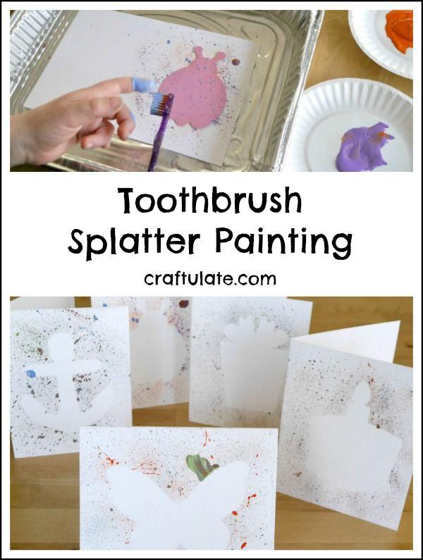 Toothbrush Splatter Painting A Fun Way For Kids To Make Art