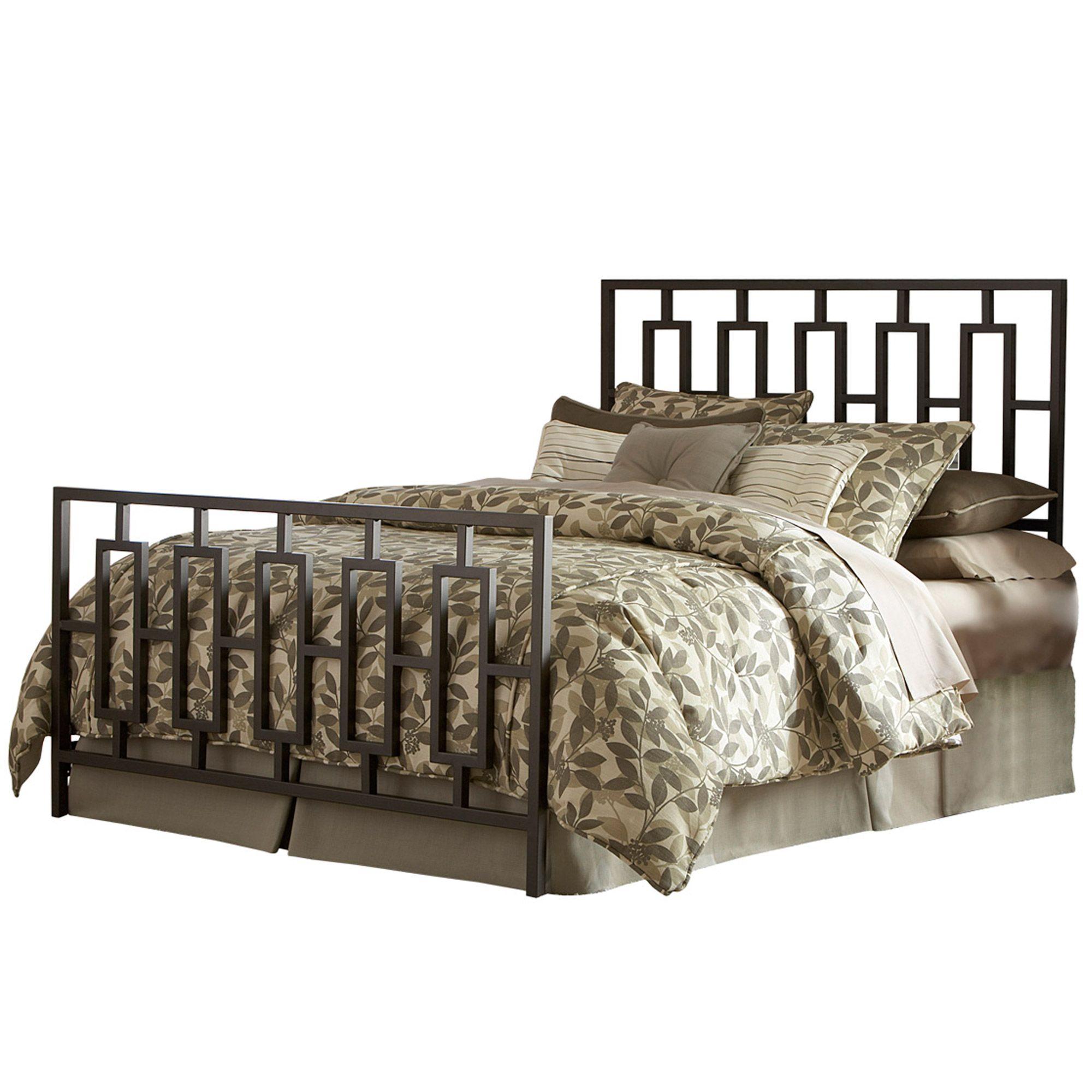 Best Miami Iron Bed Sleek Contemporary Design Coffee Finish 640 x 480