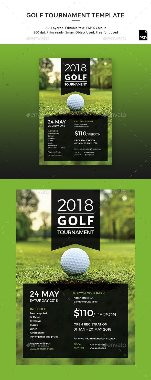 Golf Tournament Flyer  Text Color Fonts And Business Flyer Templates