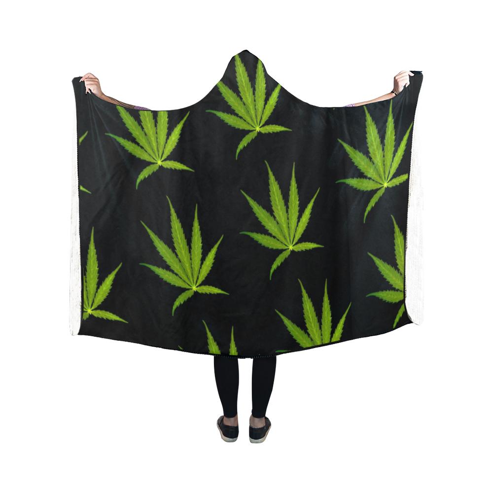 Leaf Pattern By Martina Webster Hooded Blanket 50 039 039 X40 039 039 Hooded Blanket Leaf Pattern Pattern
