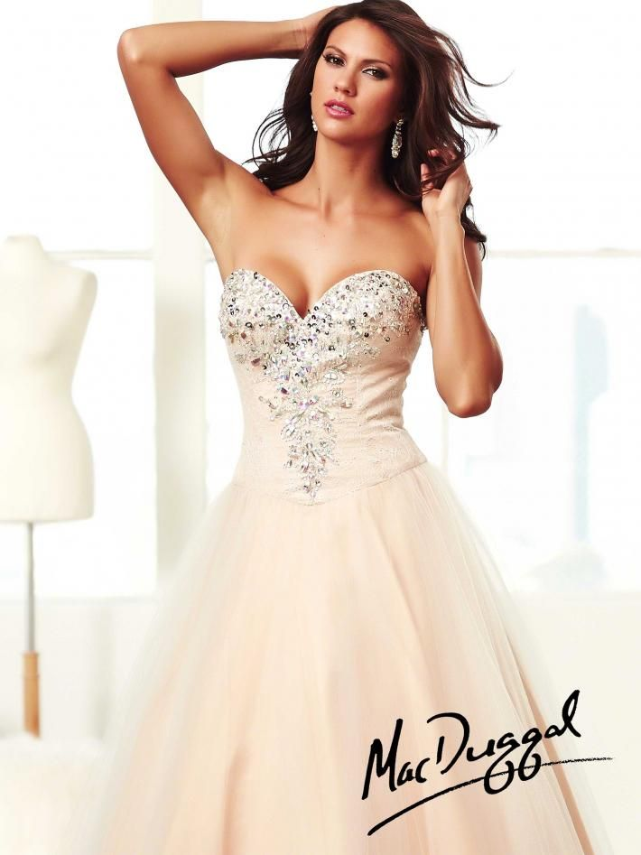 aaa986f02893 Jeweled Nude Ball Gown #Nude #Silver #Jeweled #Ball #Gown #Dress #Dresses  #MacDuggal #Formal #Beautiful