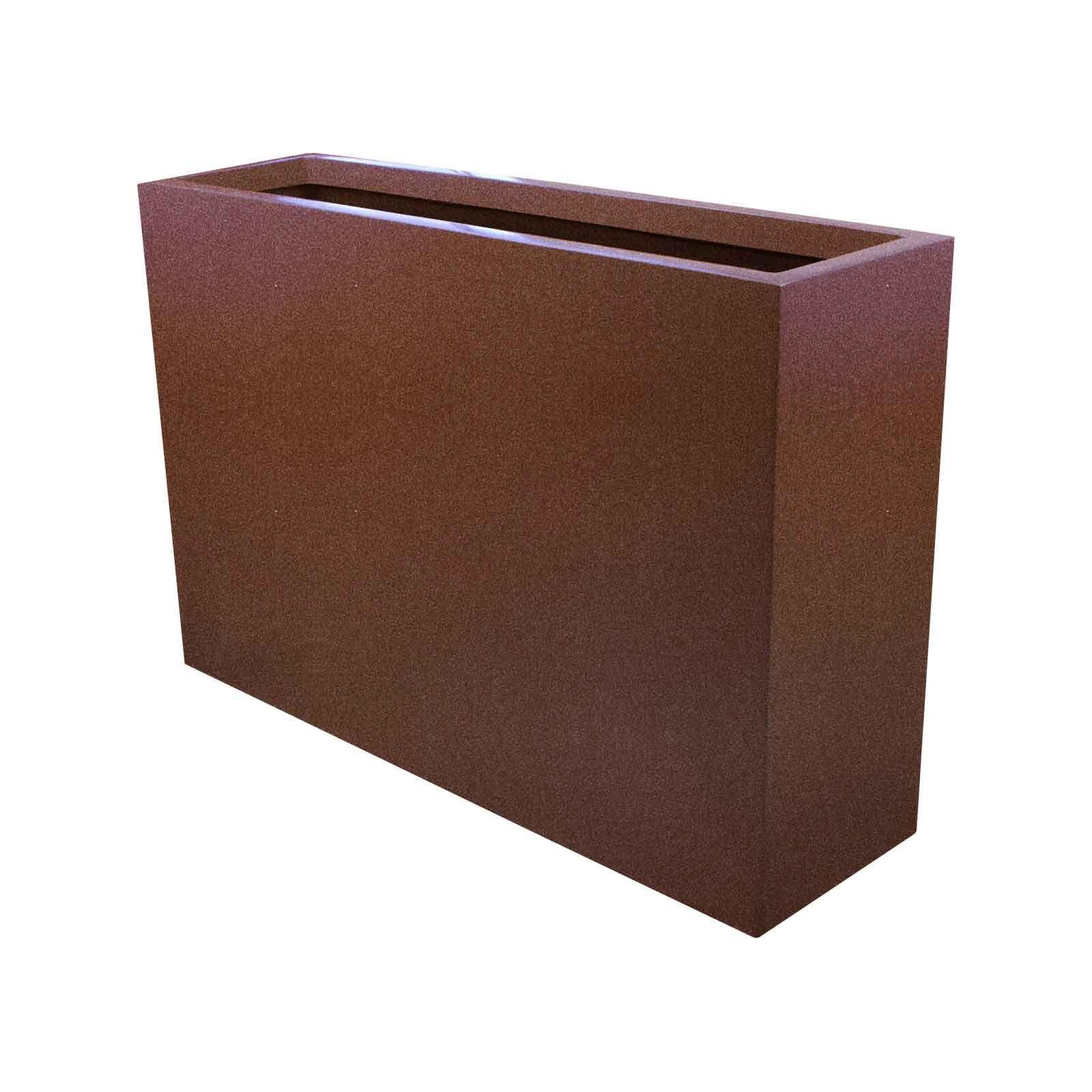 "Narrow Planter Boxes Fiberglass 24"" Tall 24"" 36"" Length 10"