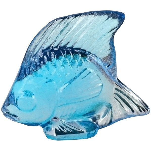"""Lalique """"Lustre"""" Blue Fish (€92) ❤ liked on Polyvore featuring home, home decor, small item storage, blue, blue home decor, blue bowl, blue home accessories, lalique y fish home decor"""