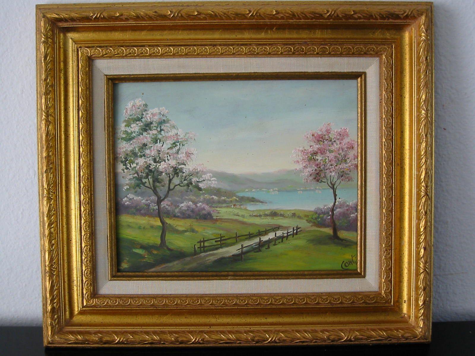 Conti Impressionist Landscape The Trees Oil On Board | Impressionist ...