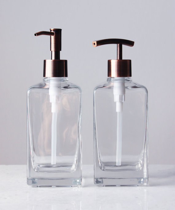 Casa Square Clear Glass Soap Dispenser Glass Soap Dispenser Soap Dispenser Sink Soap Dispenser