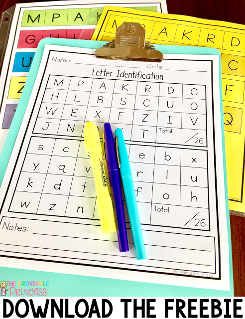 Letter recognition and alphabet activities for kindergarten new letter recognition is an important component in prek and kindergarten classrooms stop by and pick up a free letter assessment tool thecheapjerseys Choice Image