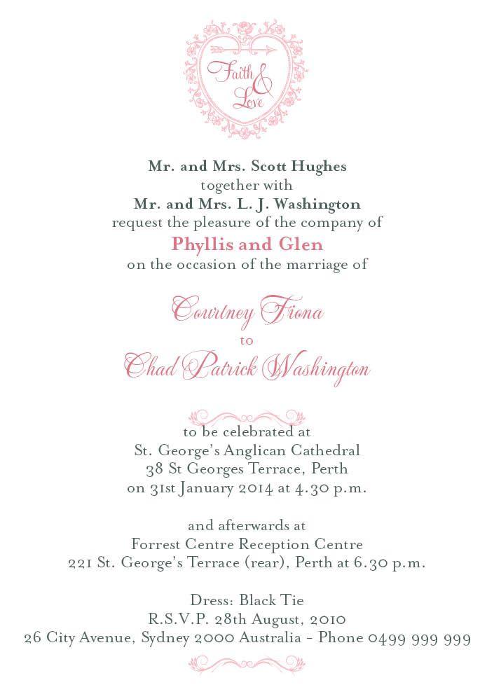 Wedding Invitations Wording Wedding Invitations Pinterest