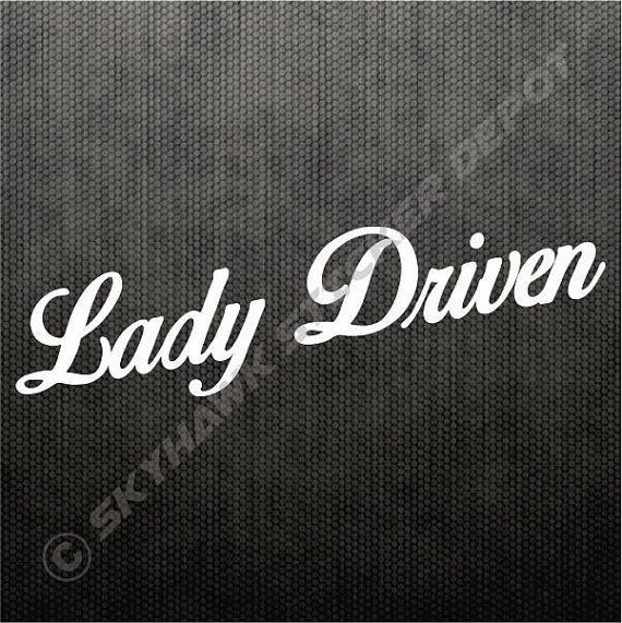 Real Chicks Drive Stick Vinyl Bumper Sticker Decal Sport Car Truck SUV JDM Girl