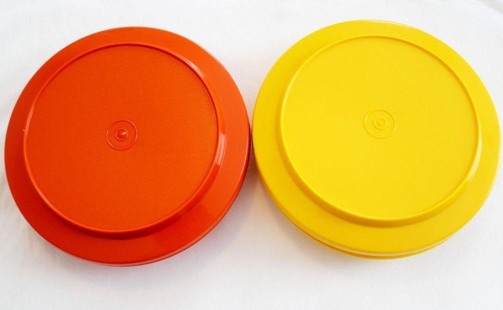 Collectible Plastic Plates (1970-Now) | eBay & Tupperware Serve \u0027n Seal Lidded Plates Harvest Colors | Tupperware ...