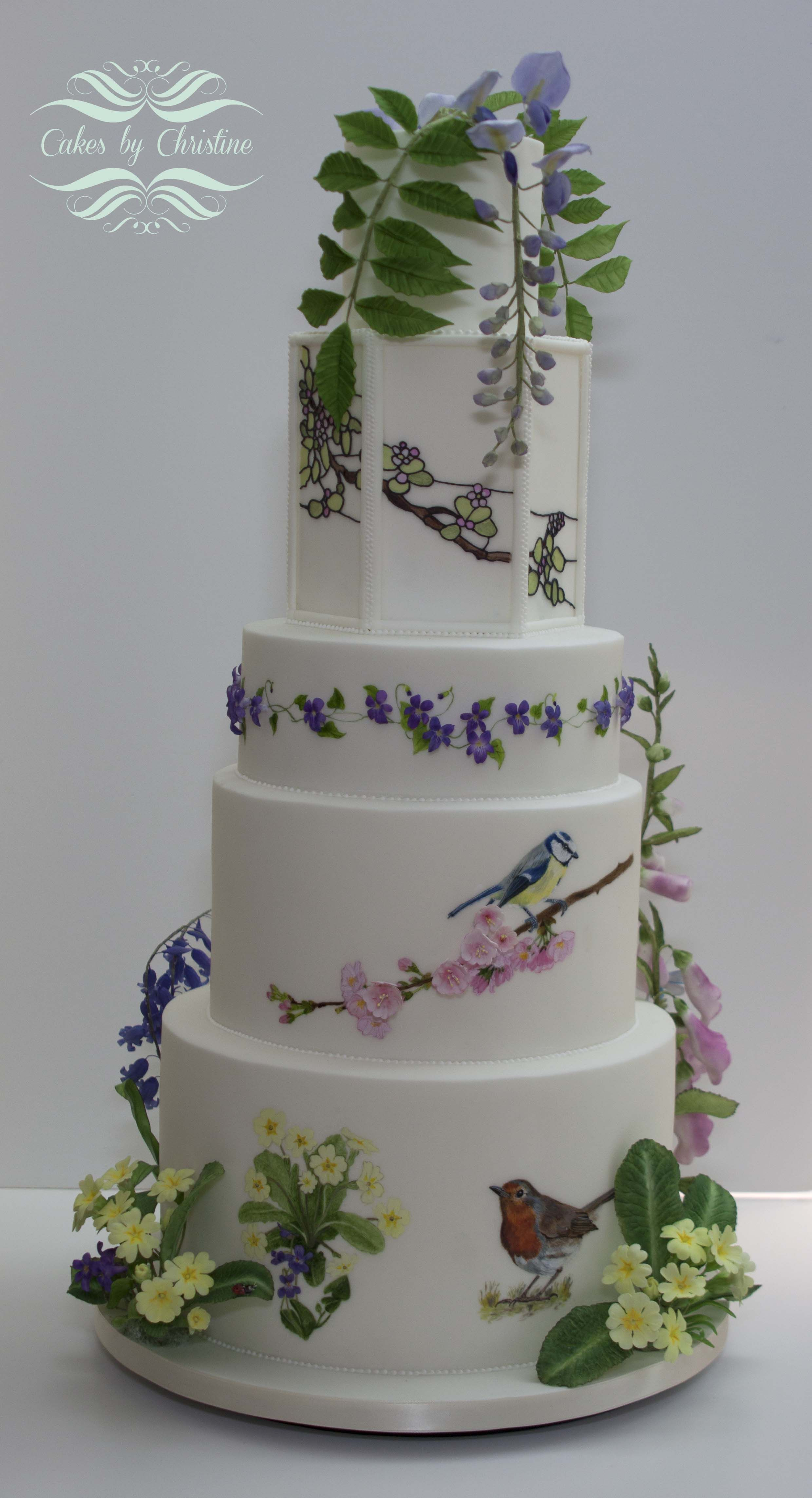Sugar Paste Tiered Wedding Cake Class Woodland Cake Country