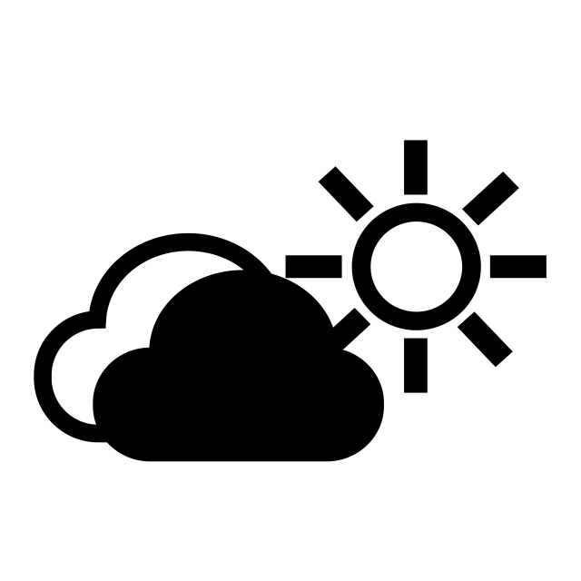 Cloud Sun Icon Vector And Png