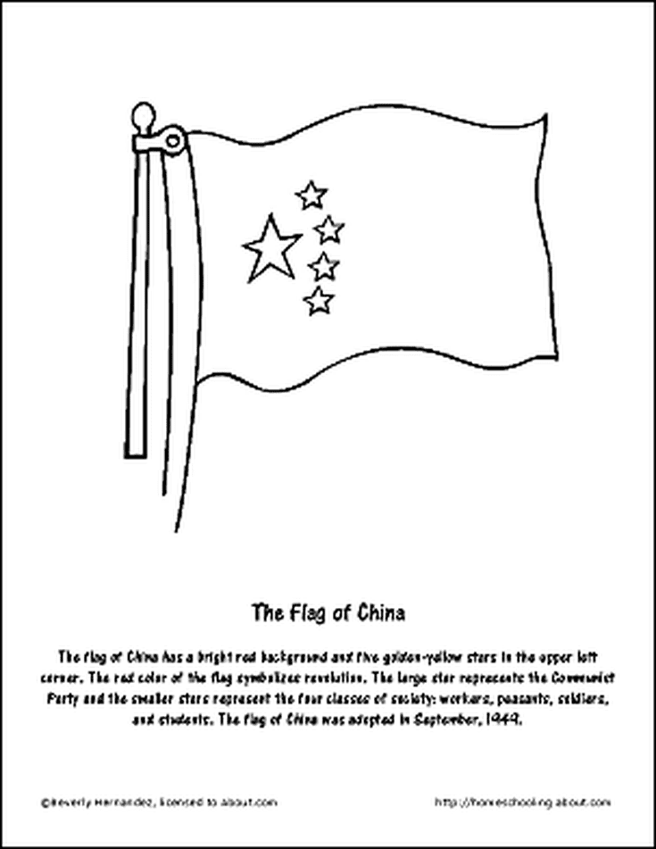 Learn About China With Free Printables China For Kids Flag Coloring Pages World Thinking Day