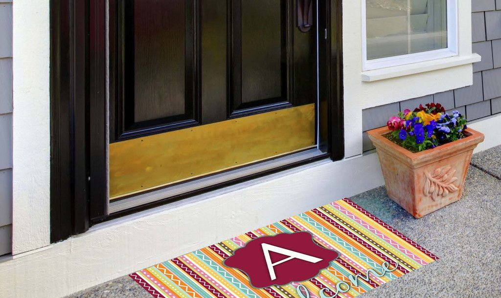 Our Welcome Mats are sure to make a statement. Our non-slip 42 oz. welcome mats are dye-sublimated with a washable backing. They are perfect to catch the sand at your beach house or condo at a price y