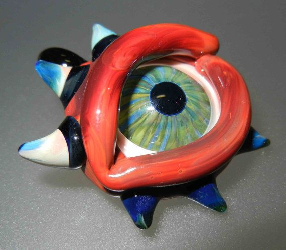 Glass Evil Eye Pendant by fionaskissfan on Etsy, $45.00