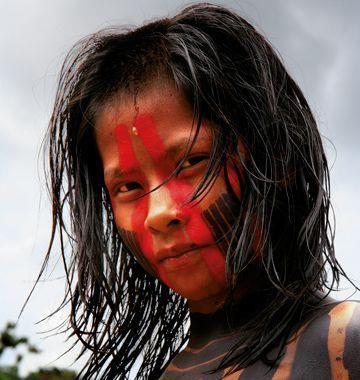 """Résultat de recherche d'images pour """"maquillage indien amazonnien traditionnel"""""""