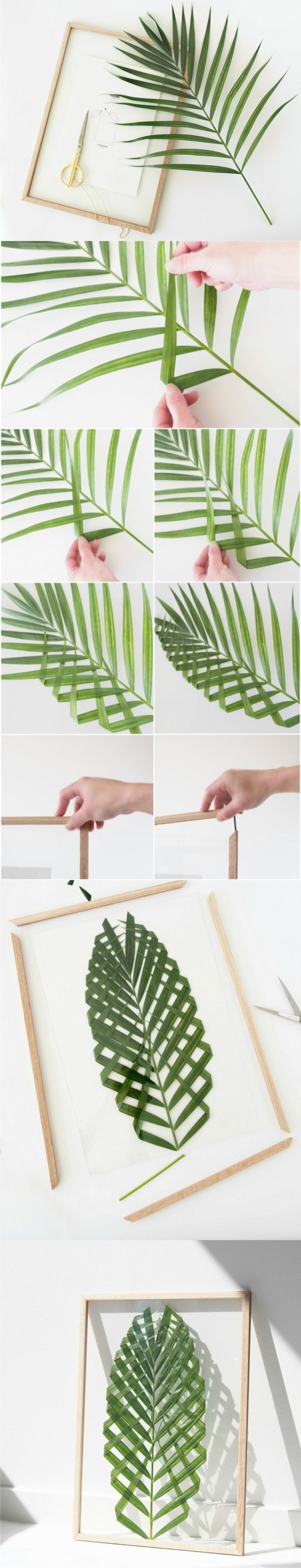 Cuadro con hoja de palma / Via http://monsterscircus.com/ | DIY : Do ...