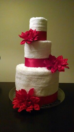 Simple towel cake