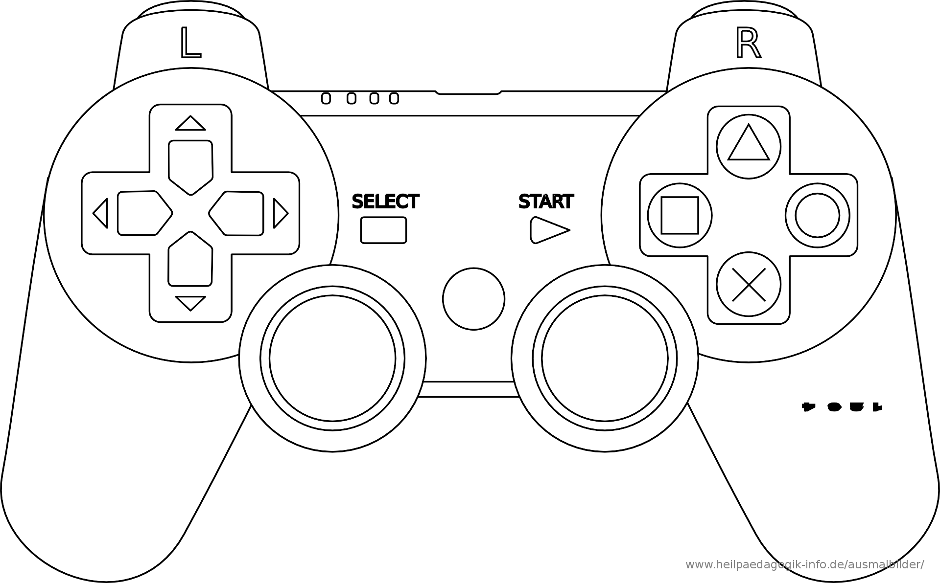 Playstation Controller Malvorlage