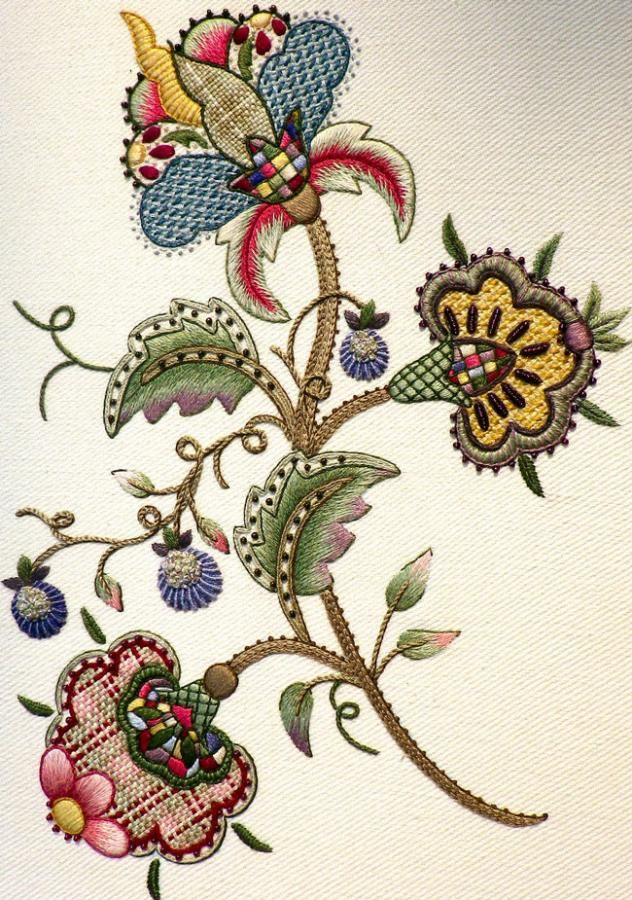 Pin By Yelena Golan On Jacobean Crewel Work Pinterest Crewel Cool Crewel Embroidery Patterns