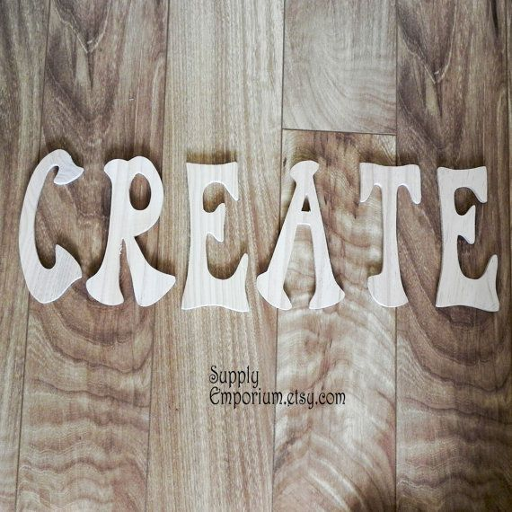 Large Word Wood Cutout Create Inspirational Decor Create