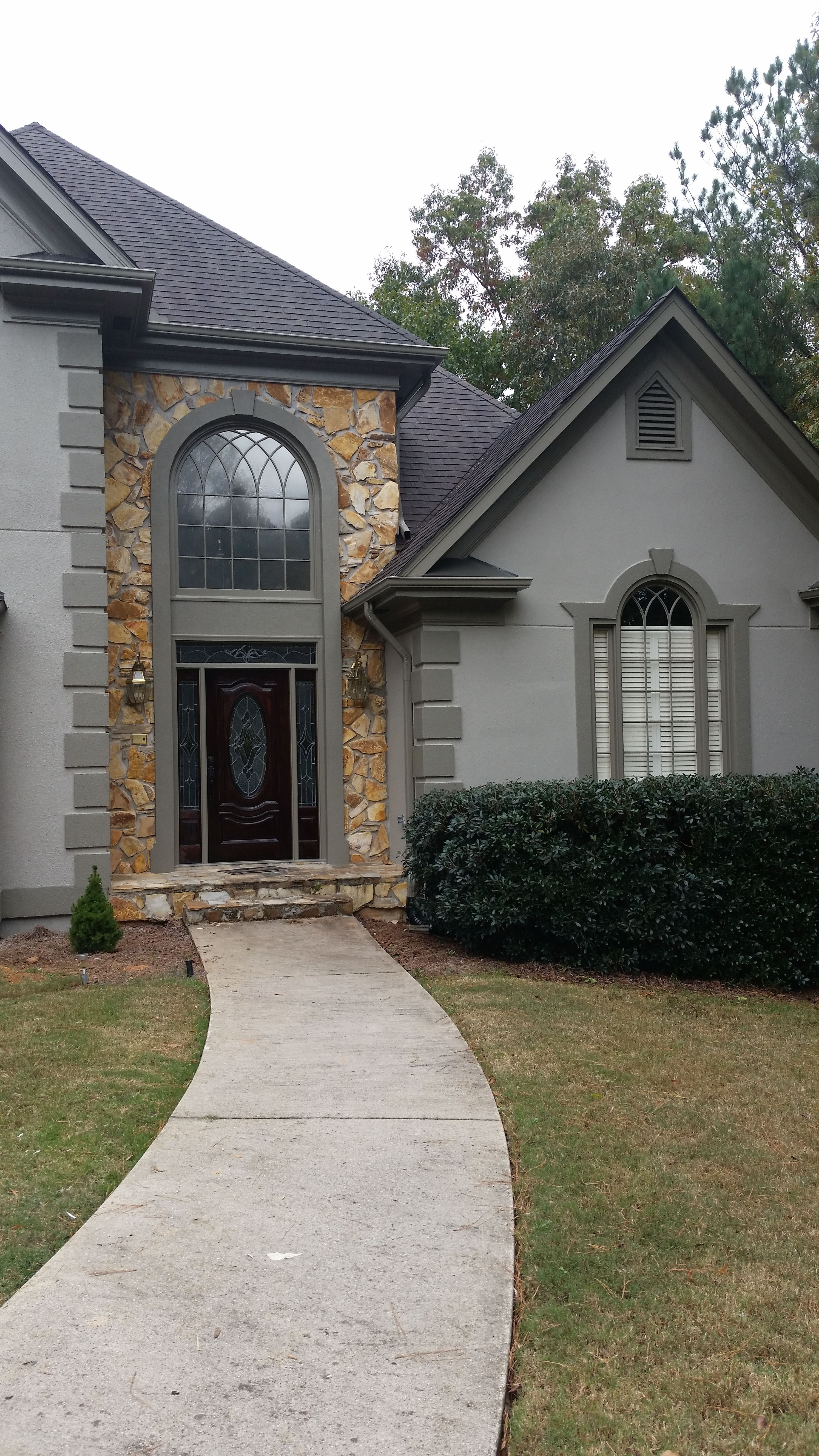 After photo - Body is SW 7045 Intellectual Gray and the ...