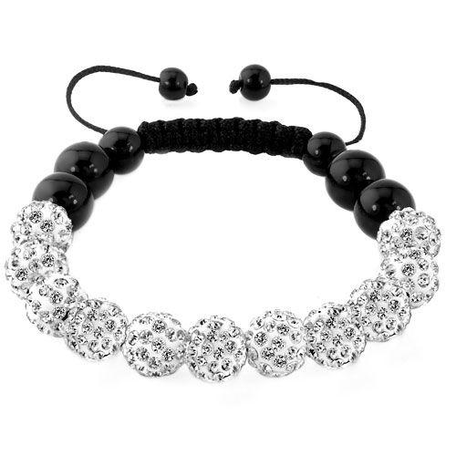 Pin By Lina On Shambhala Bracelet White Bracelets Crystal Bracelets Beaded Bracelets