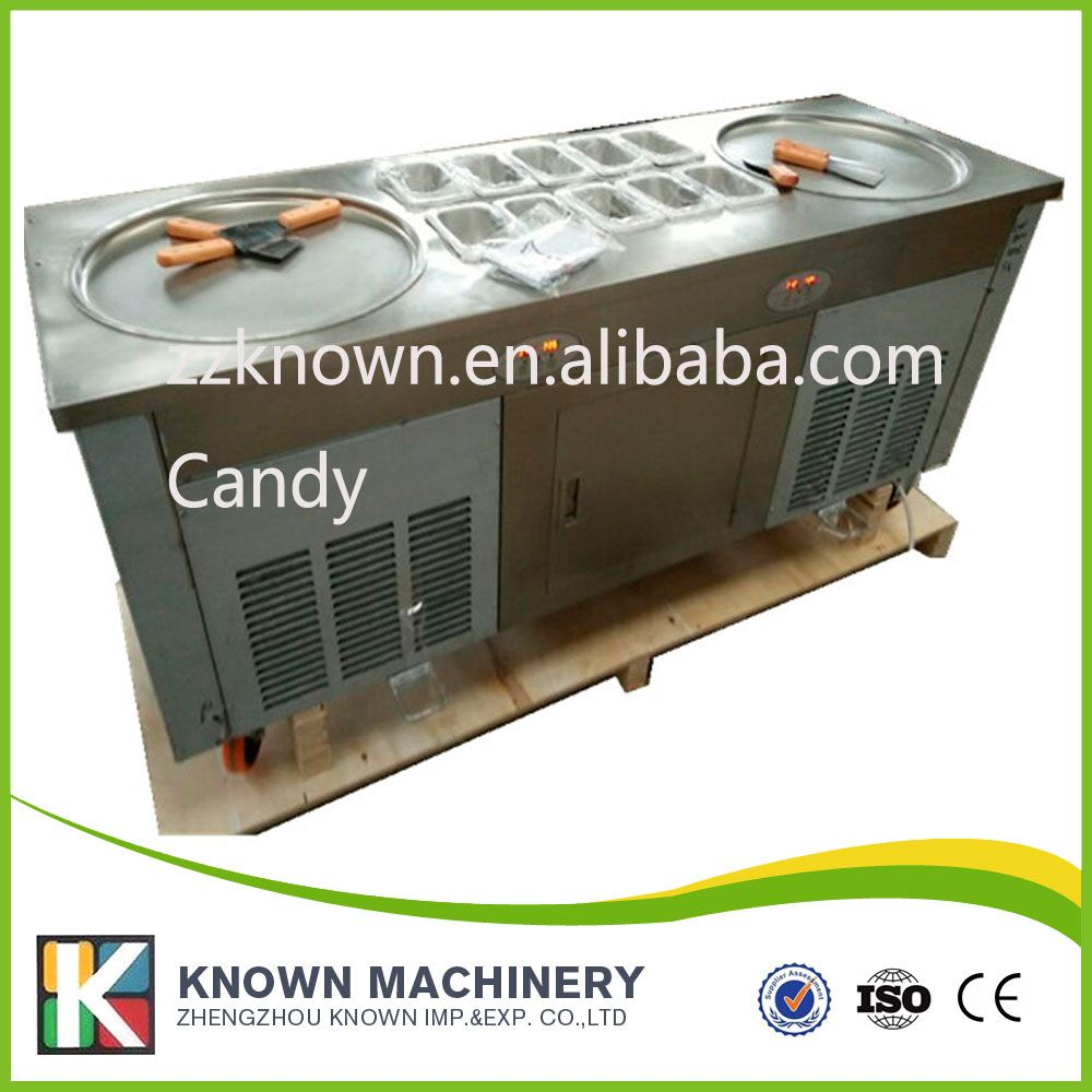 Fried Yogurt Ice Cream Machine Use110v Compressor Fill Refrigerant