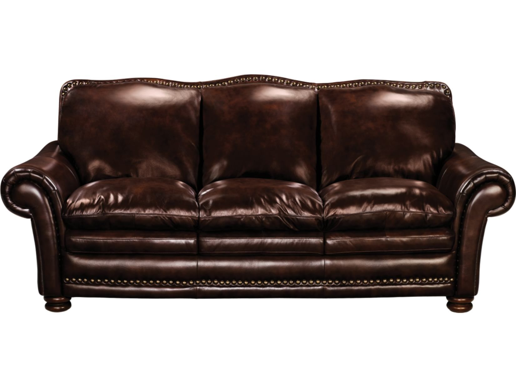 McKinsley Burgundy Leather Sofa American Signature Furniture