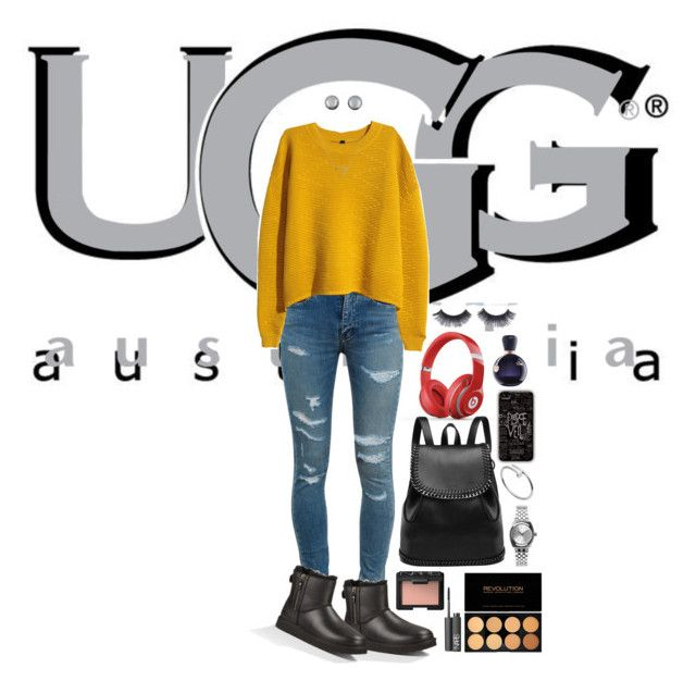 """Boot Remix with UGG : Contest Entry"" by imagne99 ❤ liked on Polyvore featuring UGG Australia, Beats by Dr. Dre, Yves Saint Laurent, H&M, Banana Republic, Cartier, Nixon, Kenneth Jay Lane, NARS Cosmetics and Lacoste"