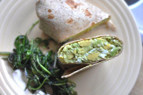 Wrap met avocado-ei salade