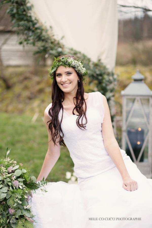Jolie photo d'une mariée by Les bonheurs de Pauline. Beautiful picture of bride. #wedding #mariage