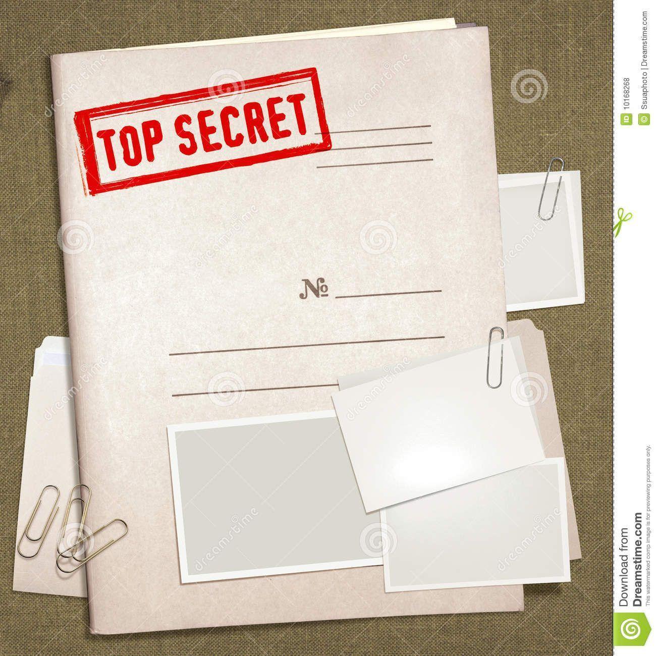 Secret Document Template